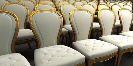 concert hall with white seat Stock Photo - 4452795