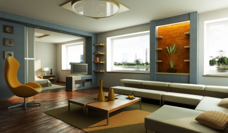 modern 3d interior rendering Stock Photo - 4806167