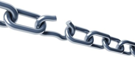 broken chain isolated 3d rendering Stock Photo - 4806151