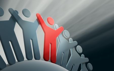 team of people with hands up Stock Photo - 5194625