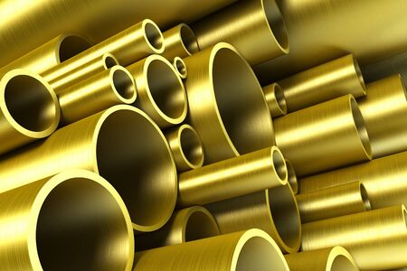 stack of steel tubing 3d rendering Stock Photo - 5344116
