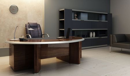 modern office: modern office interior 3d rendering