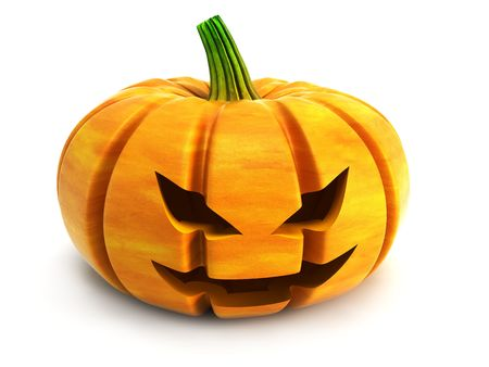 halloween pumpkin isolated 3d rendering photo