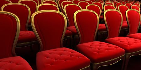 concert hall with red seat 3d rendering Stock Photo - 5929887