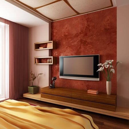 modern style bedroom interior 3d rendering Stock Photo - 6078720