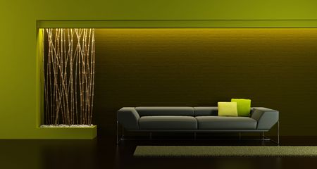 3d rendering of modern longe room Stock Photo - 6322158