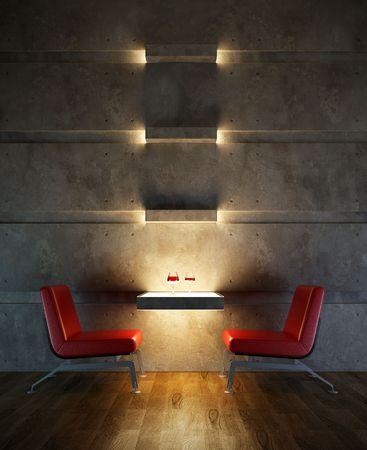 3d rendering interior lounge room