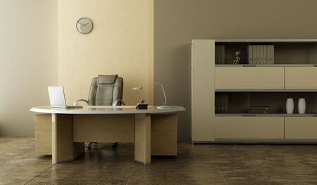 modern office interior 3d rendering photo