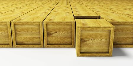 multitude: warehouse with multitude wooden crates