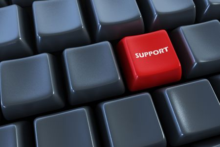 keyboard with support button 3d rendering photo