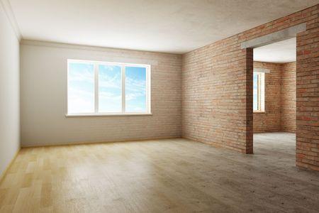 home renovation in progress. 3d rendering photo