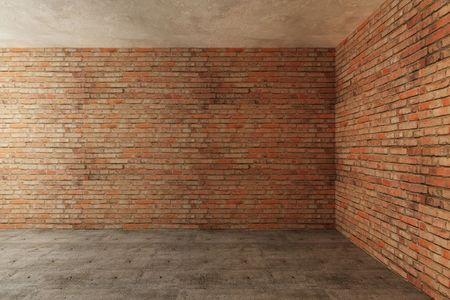 large: new empty room 3d rendering