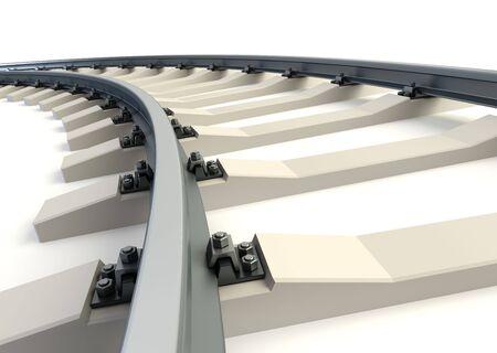 isolated railway. 3d rendering photo