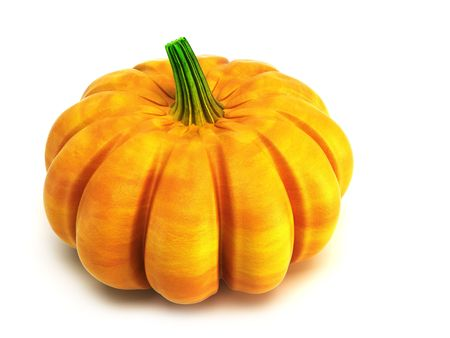 autumn vegetables:  isolated pumpkin 3d rendering Stock Photo