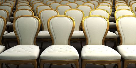 concert hall with white seat 3d rendering Stock Photo - 7318899