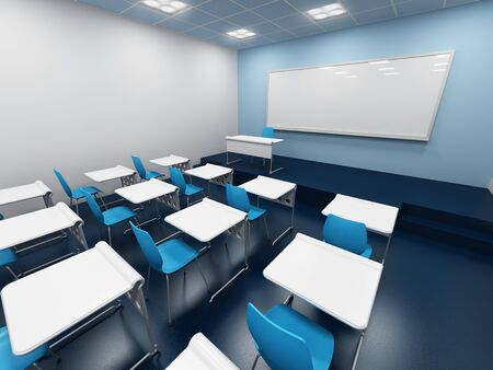 lecture hall: modern classroom. 3d rendering