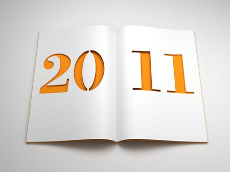 new year 2011, 3d render Stock Photo - 7924287