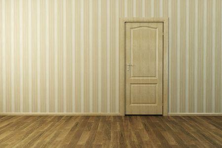 3d rendering the empty room with door Stock Photo - 7924328