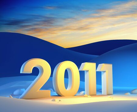 new year 2011, 3d render photo
