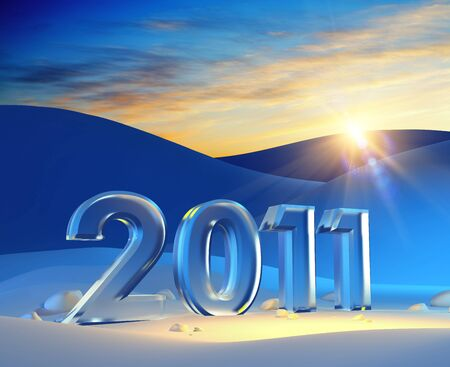 new year 2011, 3d render Stock Photo - 7924306