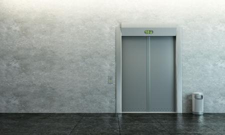 vestibulos: Ascensor moderna con la puerta cerrada  Foto de archivo