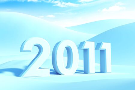 new year 2011, 3d render Stock Photo - 7999109