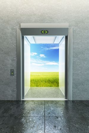 opened elevator to new life Stock Photo - 7999114