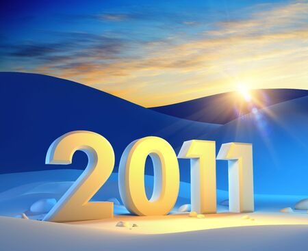 new year 2011, 3d render Stock Photo - 7999106