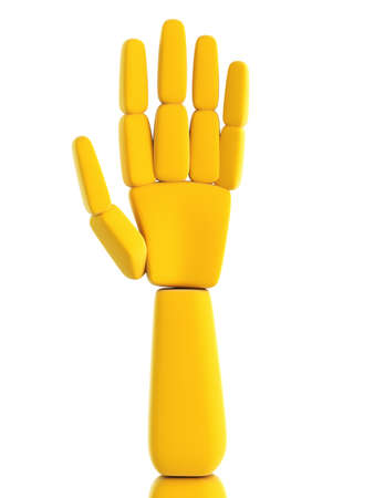 raise the thumb: isolated symbolic human hand 3d render