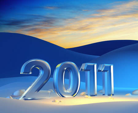 new year 2011, 3d render Stock Photo - 8335580