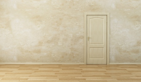 3d rendering the empty room with door Stock Photo - 8335592