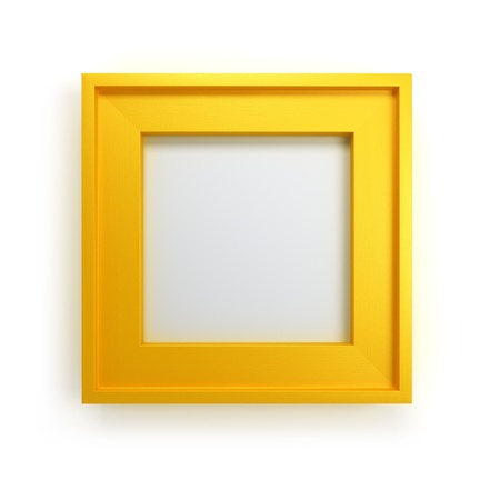 gold picture frame: modern picture frame 3d render