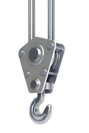 crane parts: procesamiento de 3d de gancho de la gr�a aislados Foto de archivo