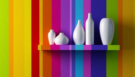 Pop art inter 3d render Stock Photo - 8403675