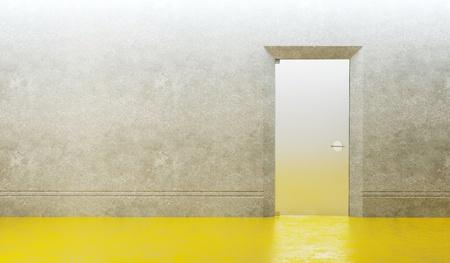 3d rendering the empty room with door Stock Photo - 8591495