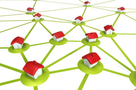 symbolic settlement network , isolated 3d render Stock Photo - 8706049