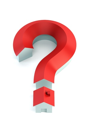 house insurance: The house in the form of a question mark