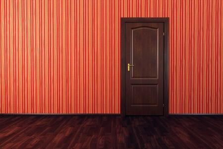3d rendering the empty room with door Stock Photo - 8706097