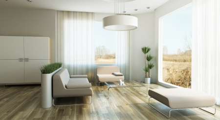 design of lounge room, 3d render photo