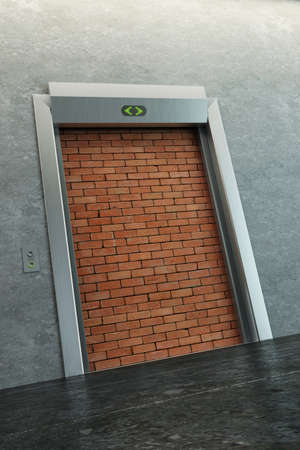 modern elevator with deadlock 3d render photo