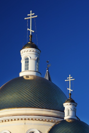 classicism: Nevjansk cathedral classicism style, Russia Stock Photo