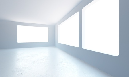 3d rendering the empty office room Stock Photo - 8930385
