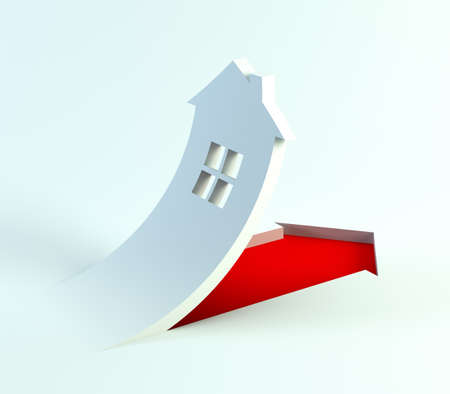 sign of symbolic house, 3d render photo