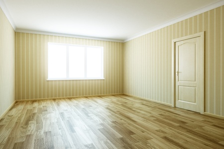 3d rendering the empty room with door Stock Photo - 8930401