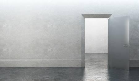 3d rendering the empty room with door Stock Photo - 9046430