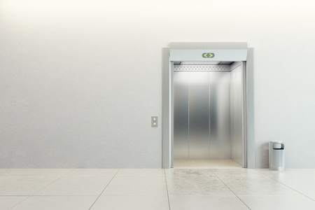 modern elevator with open doors Stock Photo - 9124564