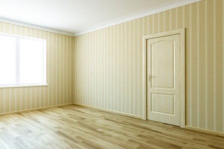 3d rendering the empty room with door Stock Photo - 9124562