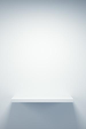 boutique display: empty boutique showcase, 3d render Stock Photo
