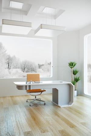 inter design of modern office, 3d render Stock Photo - 9243529