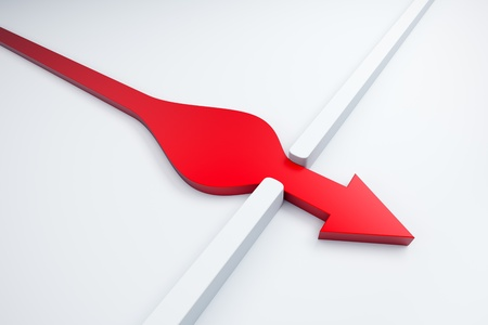 infiltration of a red arrow outside, 3d render Stock Photo - 9243369